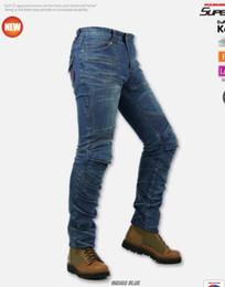 Wholesale-R2 Locomotive jeans With knee protector Rider pants CE Gear Motorcycle Shorts Leisure Cultivate Jeans for four season