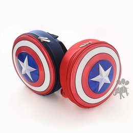 Wholesale Captain America Book Bag Children Bags Backpacks Kid Boys Girls School Bags Autumn Winter Kids Bags Baby Bag Child Backpack Ciao C26189