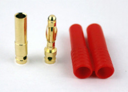 Wholesale 10 pair mm Gold Banana Connector with Protector Cover RC Battery AWG Wire Max banana pink connector wire