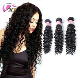 xblhair deep wave human hair extensions deep wave curly hair weaves virgin indian human hair bundles