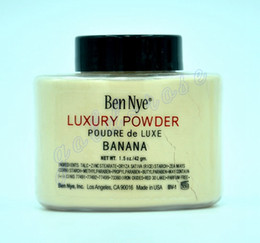 Wholesale Ben Nye Luxury Powder g New Natural Face Loose Powder Waterproof Nutritious Banana Brighten Long lasting DHL GIFT