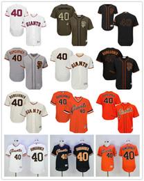 Wholesale 16 Styles Madison Bumgarner San Francisco Giants Majestic SF MLB Baseball Jerseys Black Cream Gray Orange White