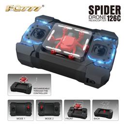 Promotion vidéo rc Mini Drone Nouveau FQ777 126C FQ777-126C Mini Spider Avec Caméra HD 2.0MP Mode Dual MODE1 Et MODE 2 Un Key Switch RC