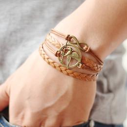 Wholesale 2016 Hot Sale Colors Antique Bronze Small Hunger Games Bracelets Bird Leather Bracelet Men Jewelry QNW8028