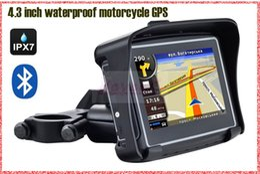 Wholesale waterproof bicycle motorbike GPS navigator M DDR gb nand flash BT free map of USA Canada Australia New Zealands