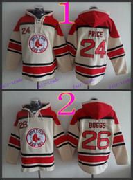 Wholesale Boston Red Sox David Price wade boggs Cheap Baseball Hooded Stitched Old Time Hoodies Sweatshirt Jerseys