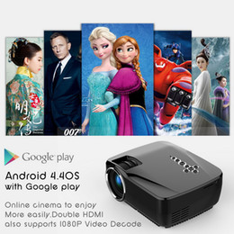 Wholesale Mini Smart LED Projector Android Bluetooth Wifi Google Play GP70UP P HD Portable Projectors G G TV Beamer Updated GP70