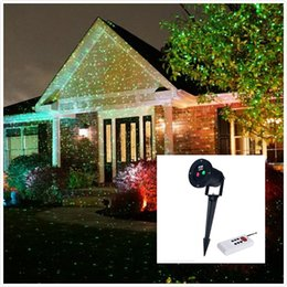 Wholesale 2016 Laster Outdoor Home Garden Yard Lightings Landscape Projector Red Green Ligh Freeshipping