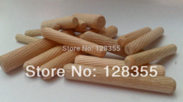Wholesale 200PCS M8X60MM grooved fluted wooden dowel pin Wooden Dowel Sticks DIY Hobby Craft furniture screws bolts