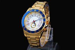 2016 Brand New Stainless Steel Geneva Watch Men Gold Watches Watched Luxury Men Business Quartz Watch Relogio Masculino Montre Homme