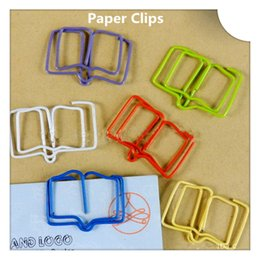 200Pcs Books Shape Paper Clips Creative Bookmarks Memo Clip Stationery for Office School Home Use Xmas Gift