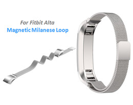 Wholesale Newest For Fitbit Alta Magnetic Milanese Loop Metal Bracelet Band Watch Band Stainless Steel Wrist Strap Bracelet Colorful Accessories