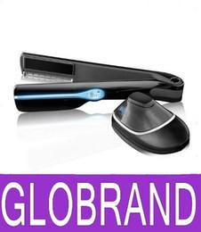 Salones para alisar el cabello en Línea-Magia Steampod Vapor Infusión plancha para el pelo alisado del cabello plancha de vapor eléctrico Calefacción Enderezando vapor Pro Salón de belleza GLO898