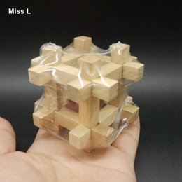 Water Well Shape Kong Ming Lock Puzzle Children Gift Wooden Toys Babys Gift Teaching Prop Mind Game