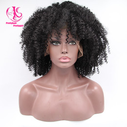 Fashion Popular black afro kinky curly synthetic lace front wig heat resistant natural black wig glueless curly wig for black women