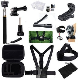 Wholesale US Stock in Bundle Combo Kit Go Pro Chest Harness Strap Head Strap Wrist Strap Camera Accessories For GoPro Hero