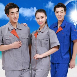 Wholesale Men and Women Scrub Sets Unisex Safety Clothes Coverall Suits Work Wear Automobile Labor Insurance Top Pants Pc cm