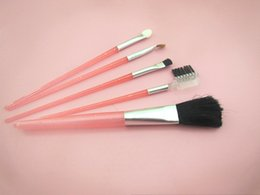 Wholesale Best Sellers Makeup Beauty Tool Set Cheap Direct Deal Man Made Fiber Blusher Brush Eye Shadow Brush Pink Plastic