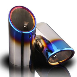 Wholesale 2pcs For Audi A4 Q5 A1 A3 A5 Car Exhaust Muffler Pipes Tip Car Covers High Quality Auto Accessories Colors