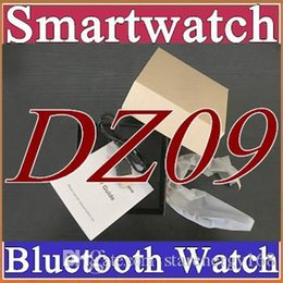 Wholesale 10X Smartwatch Latest DZ09 Bluetooth Smart Watch With SIM Card For Apple Samsung IOS Android Cell phone inch B BS