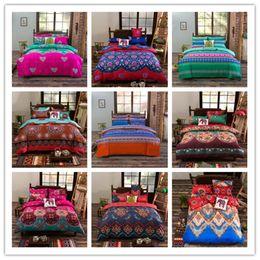 Wholesale High Quality Floral Bedding Set Colored Garden Sheet Sets Reactive Printing Bedspread Plants Bed Cover jogo de cama Queen