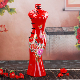 Wholesale Beauty Flower Vase Special Style Cheongsam Design First Love At Sight Match Lover s Beuaty Flower High Value Goods