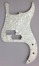Wholesale For US Standard Precision Bass Pickguard replacement Ply White Preal