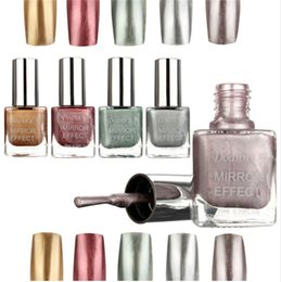 Wholesale Professional ML bottle Colors Metallic Mirror Effect Nail Polish varnishes Shining For DIY Manicure Art Tools