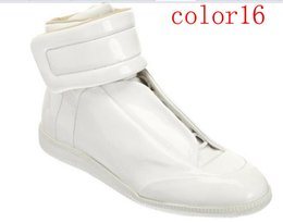 2016 new fashion Maison Martin Margiela sneakers high quatily shoes men Leather High-Top Casual shoes Free Express 39-46