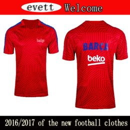 Wholesale 2016 jersey single coat uniforms for leisure sports personahome away new seality quick drying breathable polo shirts Barcelona