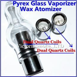 Wax Vaporizer Glass Globe Atomizer wax Vaporizer bulb glass atomizer for EVOD battery 510 thread battery ecigs wax Vaporizer ecigs