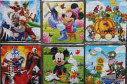 Educational toys cartoon puzzles, 33 grams of high quality cardboard jigsaw puzzle for children, 14 * 14cm puzzle has a variety of patterns