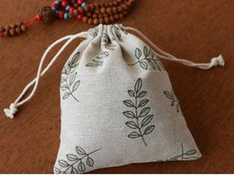 Hand Made Cotton Linen Jewelry Packaging Pouches Drawstring Bags Festive And Parties Favor Holderr Gift Bags