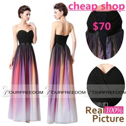 Wholesale Real Lily Collins Elie Saab Couture Style Ombre Evening Dresses Printed Long Pleats Bridesmaid Celebrity Prom Gown Gradient Ramp Formal Wear