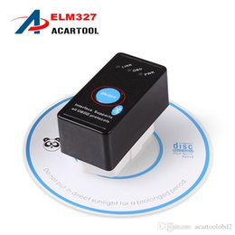 Wholesale Super Mini Bluetooth ELM327 V2 OBD2 Diagnostic Scanner With Power Switch Work on Android Symbian Windows ELM Switch elm327