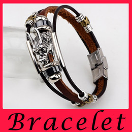 Wholesale Hot Sell Restoring Ancient Ways Tap Leather Cord Anchor Multilayer Woven Bracelet For Lovers Or Girlfriends