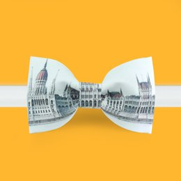 Wholesale 2016 Cartoon Big Ben London Tuxedo Bowtie Original Design Bowtie for Mens and Women Cocktail Party Wedding with Gift Box Package