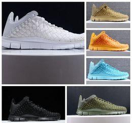 Wholesale New Men Athletic Inneva Woven Tech SP Running Sneaker Shoes Black SUNSET GLOW LIGHT AQUA milk white khaki