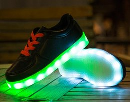 New children shoes with light new spring sport running girls fashion sneakers kids led net breathable boys shoes led