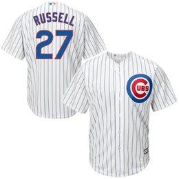 Chicago Cubs Addison Russell Men's Game Cool Flex Base Player Jersey Throwback Jerseys Baseball Jerseys