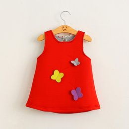 Wholesale Kids Girls D Butterfly Dresses Baby Girl Princess Air Cotton Dress Babies Autumn Clothes Children s clothing