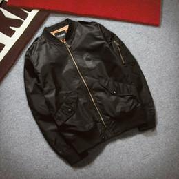 Spring Ma1 Bomber Jacket Men Casual Long Sleeve Black Pilot Jacket