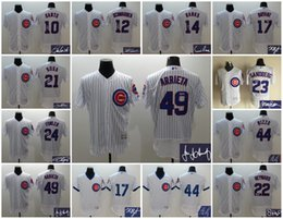 Wholesale Elite Chicago Cubs Customize Jake Arrieta Anthony Rizzo Kyle Schwarber Ernie Banks Kris Bryant Santo Signature Jersey