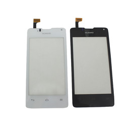 100% Tested Black White For Huawei Y330 Touch Screen Digitizer Sensor With Logo Replacment Parts 614