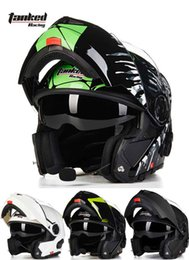 2016 New male Tanked Racing open face motorcycle helmet with Bluetooth dual lens undrape face motorbike helmets of ABS 5 colors