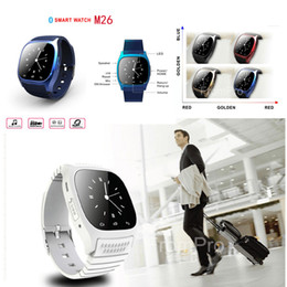Wholesale 2016 Newest M26 Wireless Bluetooth Smartwatch Smart Wrist Digital Watches Sync Phone Mate For IOS Apple iPhone Android Phones