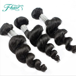 Hot Sale Real Human Weave Hair 9A Inidan Loose Wave Unprocessed Machine Double Indian Hair Extensions 3Bundles Loose Wave Human Hair Weaves