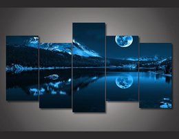 2016 New style Fantasy Moon Night Painting Wall Art Room Decor Print Poster Picture Canvas Painting for House Decoration