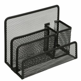Wholesale Best Promotion Black Cube Metal Book Stand Mesh Style Desk Tidy Pencil Metal Pen Holder Office Home Supplies Gift