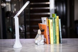 Led touch On   off Rechargeable desk lamp student reading study Rechargeable foldable LED lights Table lamps Eye Protection lamp